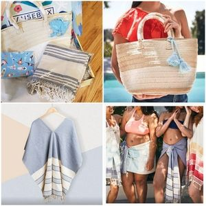 Altruism straw bag & tribe alive beach coverup